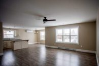 expansive living and kitchen area