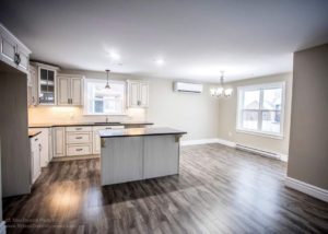 Bright open kitchen with island