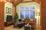 Arlington Timber Frame Enterrtainment Room