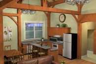 Arlington Timber Frame Kitchen