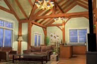 Arlington Timber Frame Living Room 2