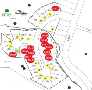 Moores Landing Property Map lots and Homes for Jenifer Court and Kara Anne Court