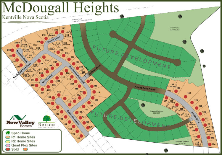 Land lots for sale in the Annapolis Valley's McDougall Heights