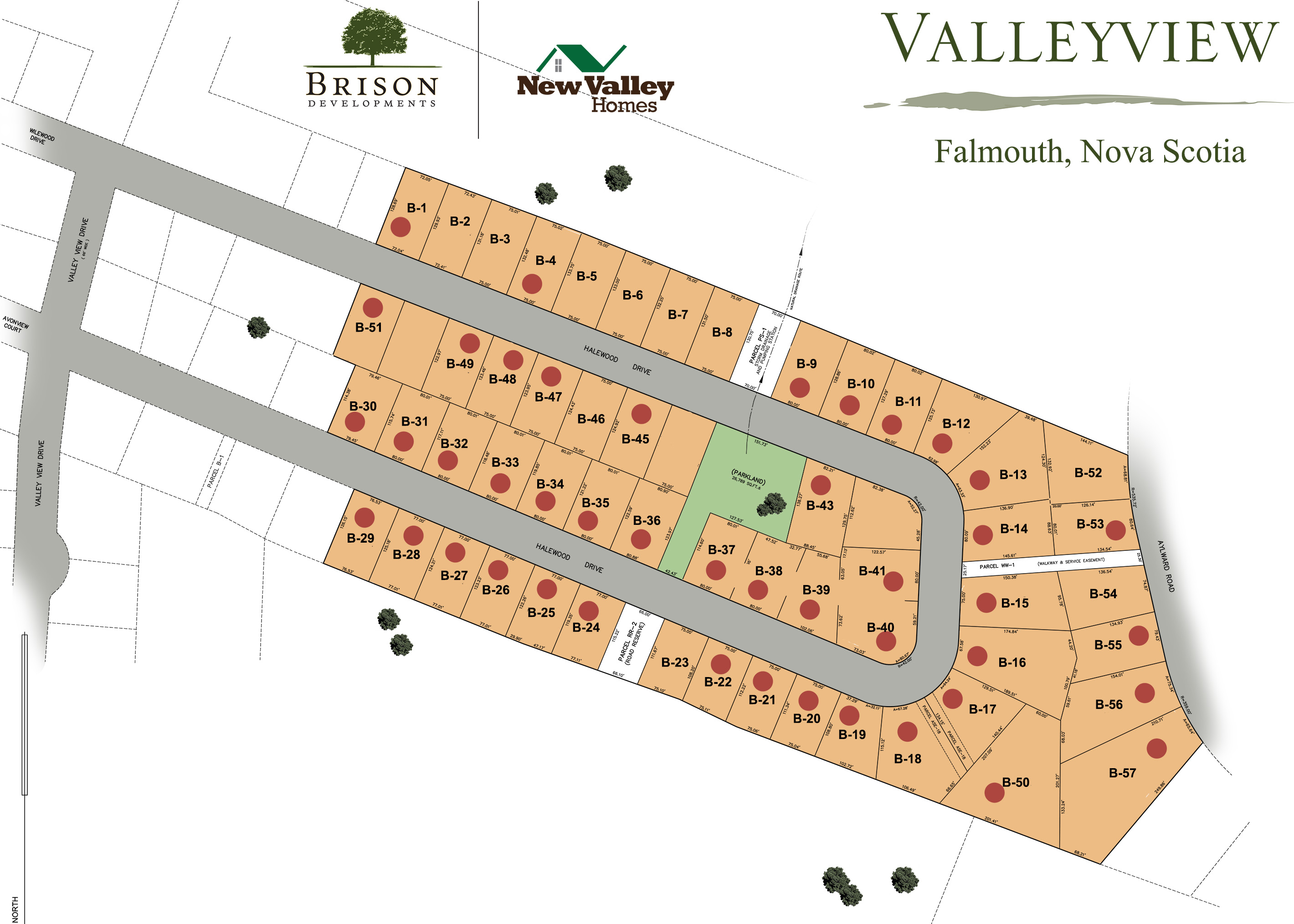 Lot Map - Halewood Drive valleyvuew community