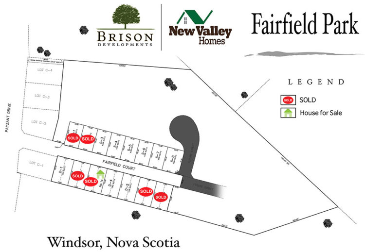Fairfeild Park Map of Homes and Land Windsor NS