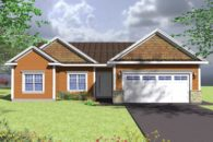 Burnt orange bungalow for sale in the Annapolis Valley